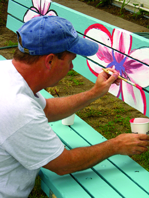 Bus-Benches-Bill-painting